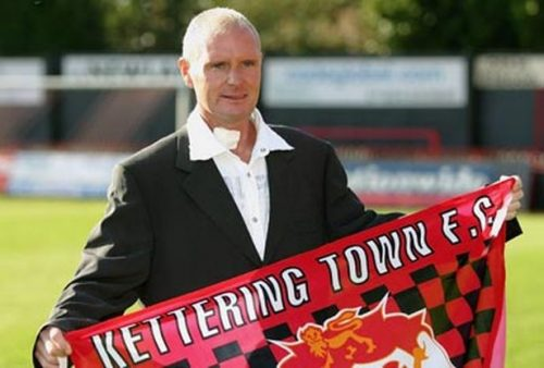 Gazza unveiled as Kettering Manager