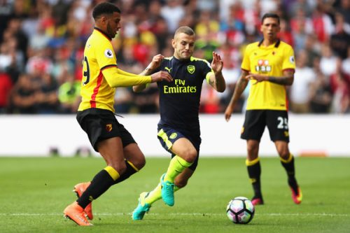 Ettiene Capoue and Jack Wilshere