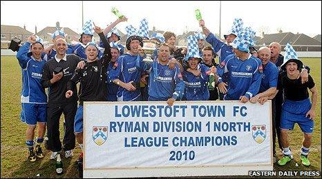 Lowestoft Town FC champions 2010