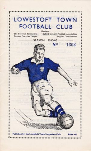 Lowestoft Town programme 1965-66