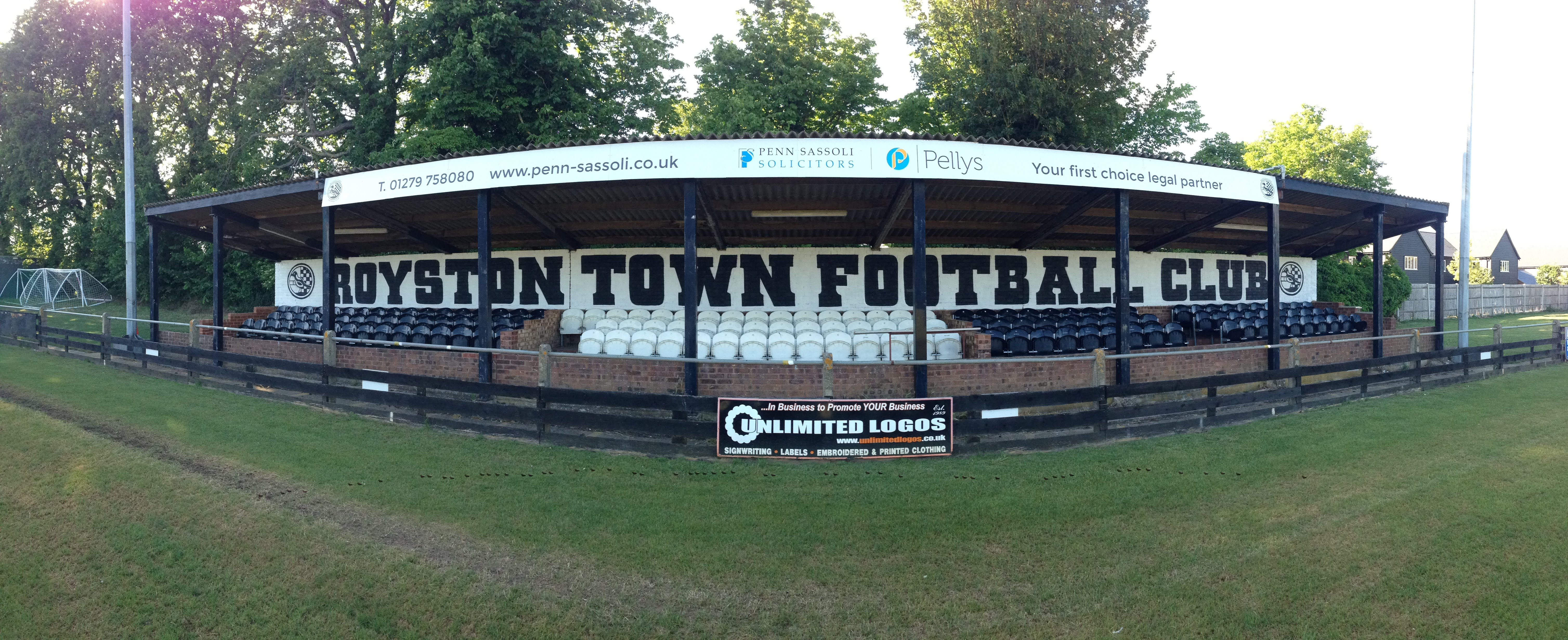 Royston Town stand
